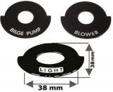 Instrumentenbeleuchtung Aus Aluminium in seewasserfestem Siebdruck, korrosionssicher.