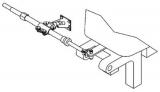 Teleflex Spiegel-Halterung seewasserfestem NIRO Stahl