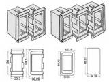 Abdeckkappe Kunststoffrahmen für Schalter