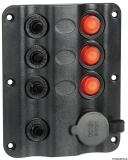 Elektrische Schalttafeln Wave design 3  1 Steckdose mit Zigarettenanzünder automatischen Thermosicherungen