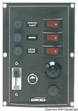 Schalttafel aus Nylon mit beleuchteten Wippschaltern Druckschalter Horn + 1 voltmeter