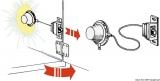 Automatische Innenleuchte für Schränke und Spinte aus weißem ABS