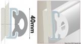 PVC-Einlege Profil 40mm Farbe weiss für die Grundschiene 44.040.05