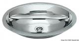 Ovale Spülen Aus hochglanzpoliertem Edelstahl Außenmaße 510x390mm