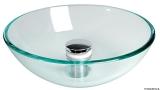 Rundbecken aus transparentem Glas Durchmesser 420mm