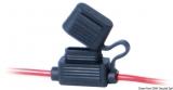 Wasserdichter Sicherungshalter Für Flachsteck Sicherungen Mit 2 Drähten 130 mm lang,  Stärke 4 mm