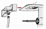 Motor Flusher B  mit Wasseranschluss unter der Antikavitationsplatte