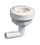 Ablauf für flexible Wassertanks, 90° auf 15mm Schlauchanschluss
