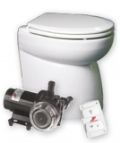 Silent Premium-Electric Toilette Standard schräge Rückseite, 12V