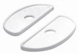 Isolierende Basisplatte aus weißem Kunststoff, für Klampen BULL-DOG