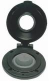 Elektrischer Fußschalter für Ankerwinden  Farbe Kappe schwarz / Rahmen schwarz