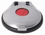 Elektrischer Fußschalter für Ankerwinden Edelstahl Kappe rot