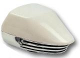 Bootshupe Einklang aus Kunststoff mit weißen Kappe und verchromten Unterteil