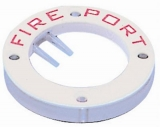 Feuerschutzventil Fire Ports  Kunststoff weiß