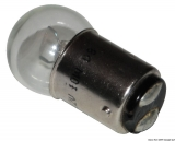 zweipolige Glühlampe mit kleiner Birne BA15D 12 Volt 10 Watt