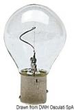 Glühlampe mit vertikalem Leuchtdraht  12V 10 W BAY15D