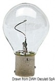 Glühlampe mit vertikalem Leuchtdraht  24V 10 W BAY15D
