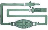 Treibstoffschlauch und Tankanschluss Version mit 2 Mercury Anschlüßen (Stecker -Dose), für Motoren bis 1987