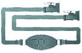 Treibstoffschlauch und Tankanschluss Version mit 2 OMC Anschlüssen (wie Orginal)