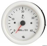 Drehzahlmesser Diesel 0-4000 Umin  Linie GUARDIAN Anzeige weiß Blende weiß 12V