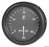 Drehzahlmesser Diesel 0-4000 Umin  Linie GUARDIAN Anzeige schwarz Blende schwarz 24V