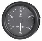 Drehzahlmesser Diesel 0-4000 Umin, mit Zähler  Linie GUARDIAN Anzeige schwarz Blende schwarz 12V