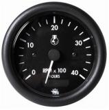 Drehzahlmesser Diesel 0-4000 Umin, mit Zähler  Linie GUARDIAN Anzeige schwarz Blende schwarz 24V