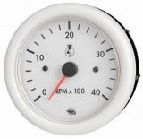Drehzahlmesser 2/4 Takt 0-7000 Uminn  Linie GUARDIAN Anzeige weiß Blende weiß 12V