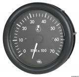 Drehzahlmesser 2/4 Takt 0-7000 Umin mit Betriebstundenzähler  Linie GUARDIAN Anzeige schwarz Blende schwarz 12V