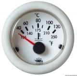 Temperaturanzeige Anzeige weiß Blende weiß Typ H2o 40-120 12V