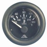 Temperaturanzeige Anzeige schwarz Blende schwarz Typ H2o 40-120 12V