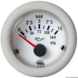 Öldruck Anzeige weiß Blende weiß 0-5 bar 24V