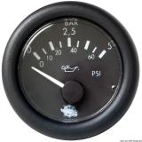 Öldruck Anzeige schwarz Blende schwarz 0-5 bar 24V