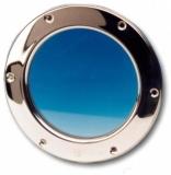 Bullauge rund, Festmontage aus NIRO 304 Außenmaß 265 mm