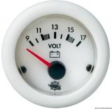 Voltmeter Anzeige weiß Blende weiß Spannung 10/16V