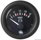 Voltmeter Anzeige schwarz Blende schwarz Spannung 10/16V