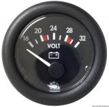 Voltmeter Anzeige schwarz Blende schwarz Spannung 20/32V