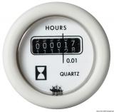 Betriebsstundenzähler Anzeige weiß Blende weiß Spannung 12V