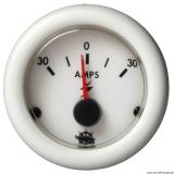 Amperemeter 30-0-30A Anzeige weiß Blende weiß