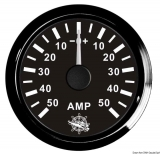 Amperemeter 50-0-50 Anzeige schwarz Blende schwarz