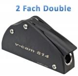 Fallenstopper 2fach BBN6 / Typ Double / Leine: Ø 10 bis 12 mm Max Last: 850 - 1200 kg /  Montage: 4 x Ø 8 mm