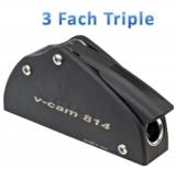 Fallenstopper 3fach BBN7 / Typ Triple / Leine: Ø 10 bis 12mm / Max Last: 850 - 1200 kg / Montage: 6 x Ø 8 mm