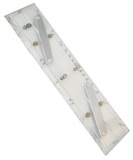 MICRON Navigationslineal für Parallelverschiebungen, 30 cm