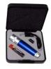 Taschenlampe aus Metall mit Ersatzbirne und Batterie